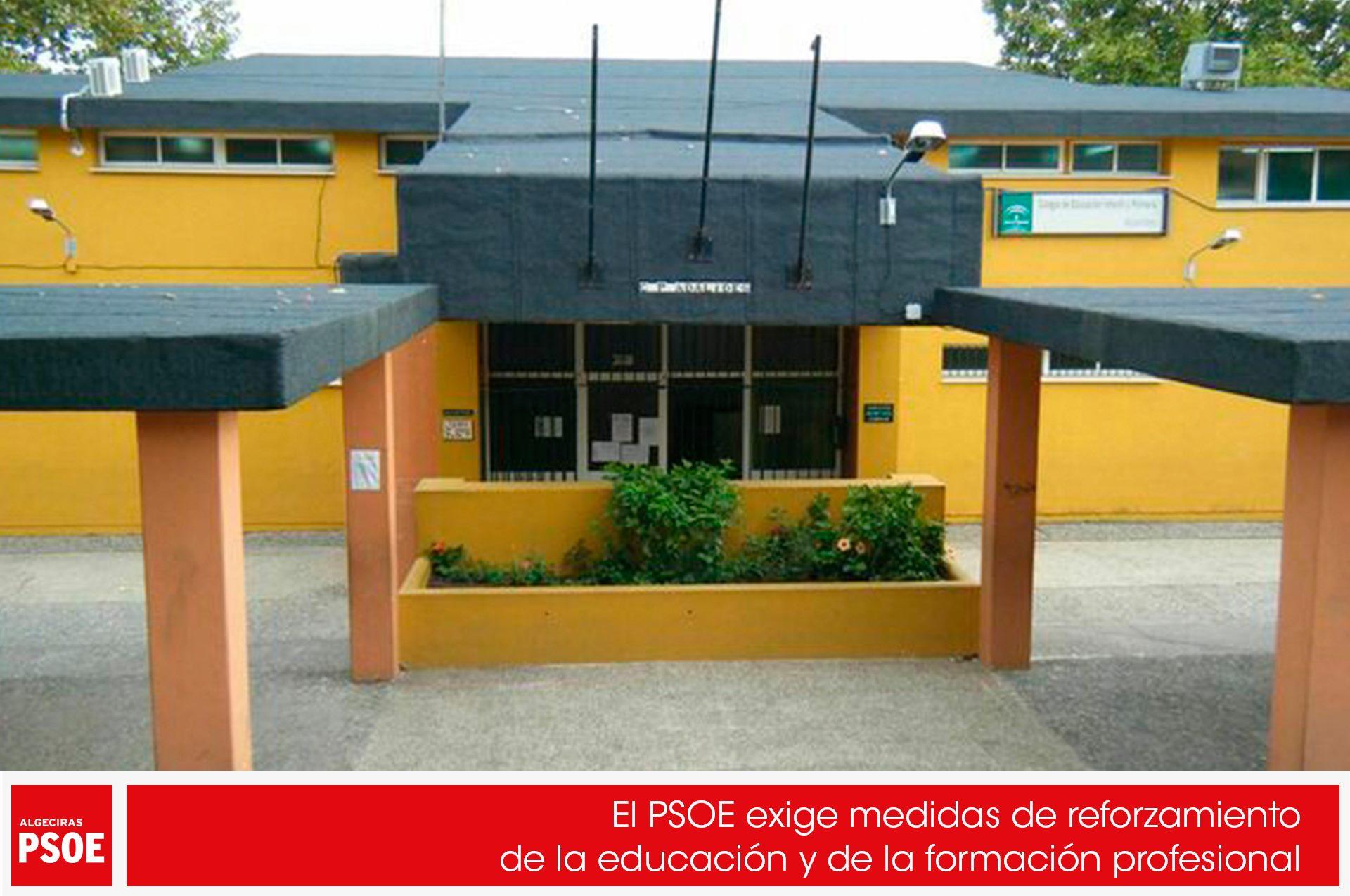 El PSOE exige medidas de reforzamiento de la educación y de la formación profesional