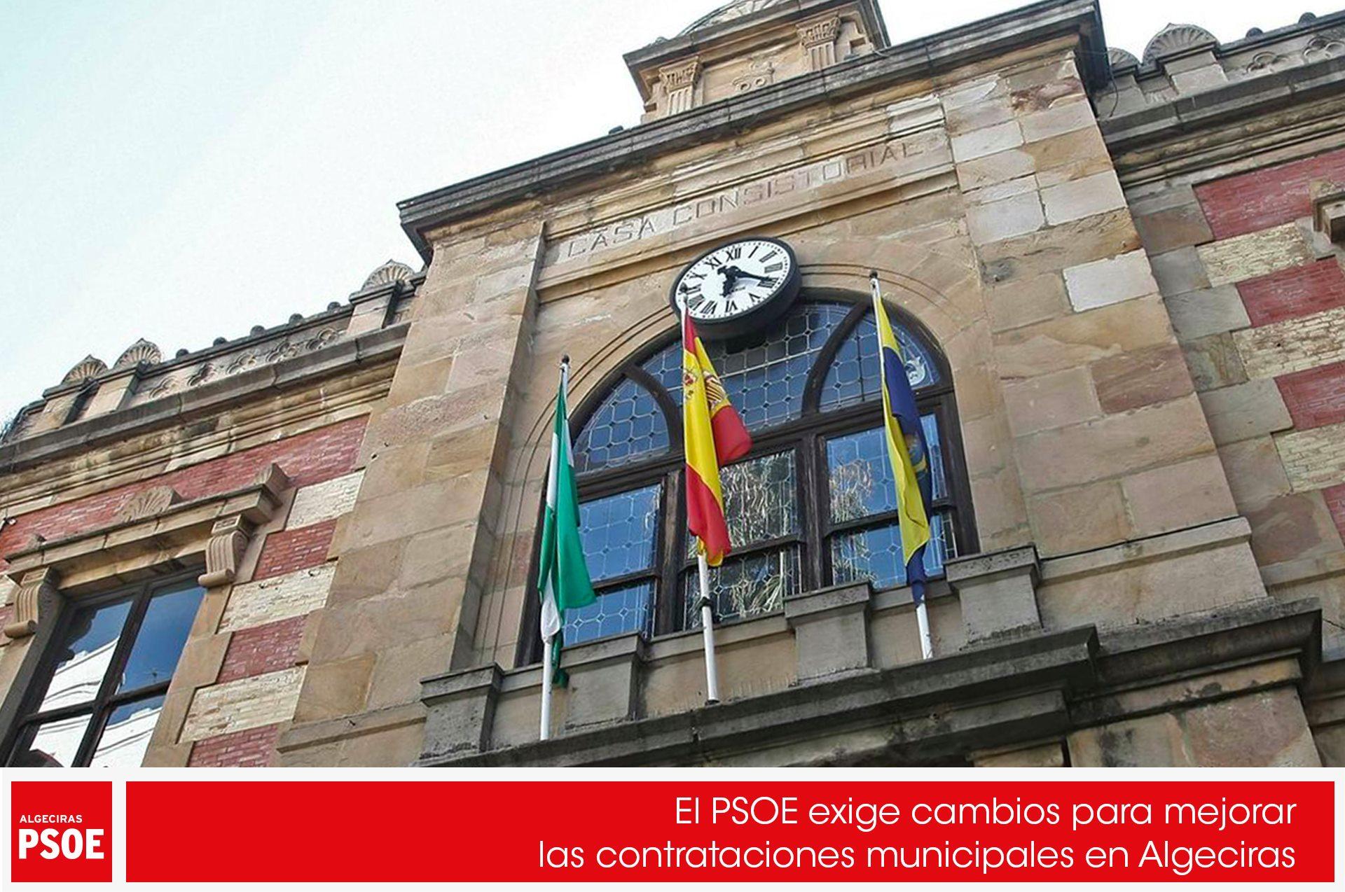 El PSOE exige cambios para mejorar las contrataciones municipales en Algeciras