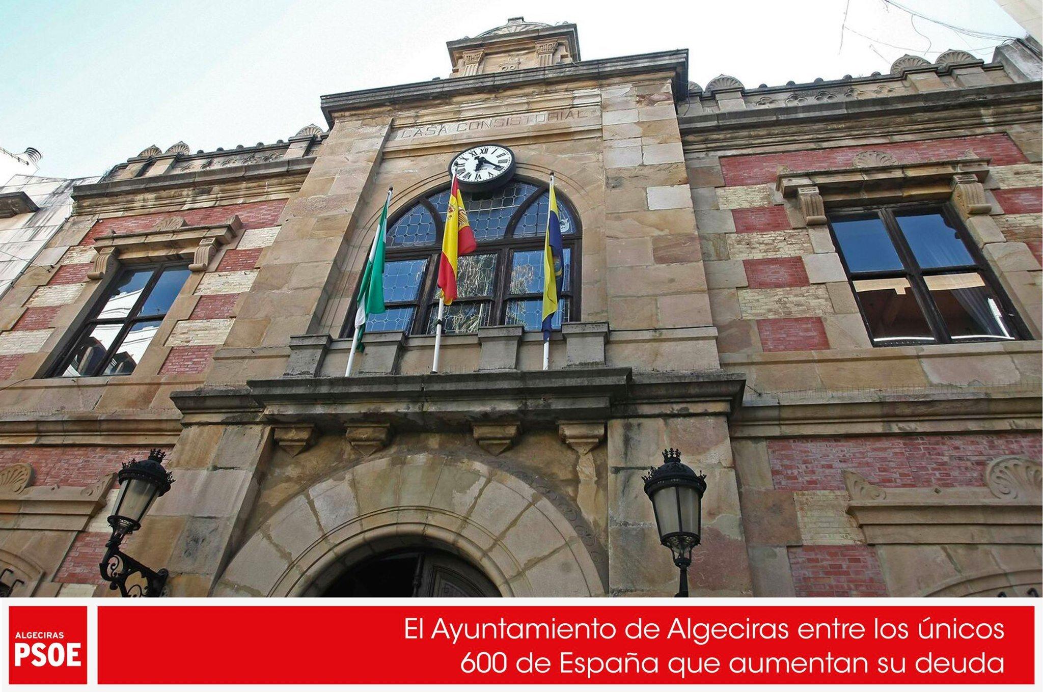 El Ayuntamiento de Algeciras, entre los únicos 600 de España que aumentan su deuda
