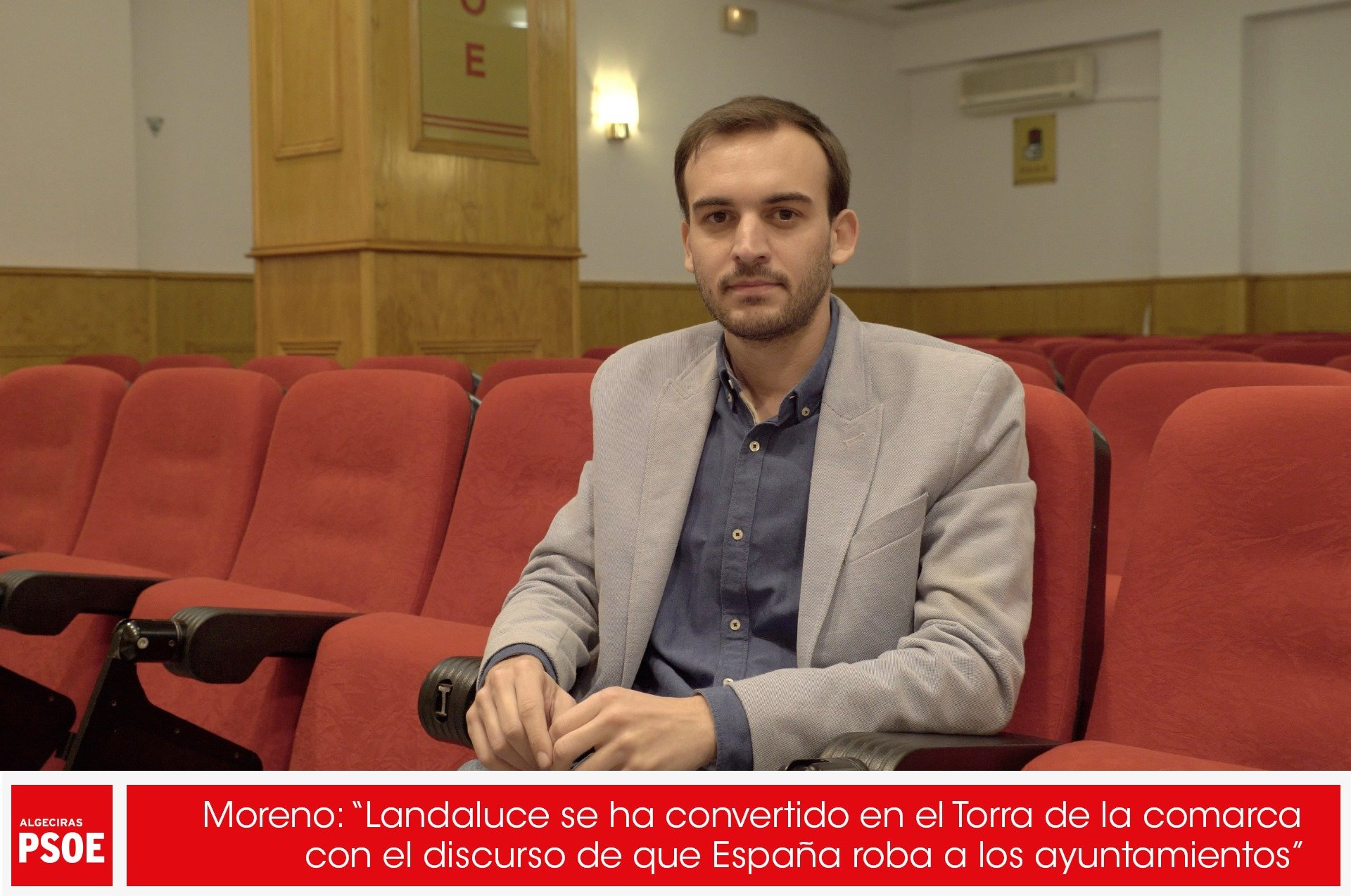 """Daniel Moreno: """"Landaluce se ha convertido en el Torra de la comarca con el discurso de que España roba a los ayuntamientos"""""""