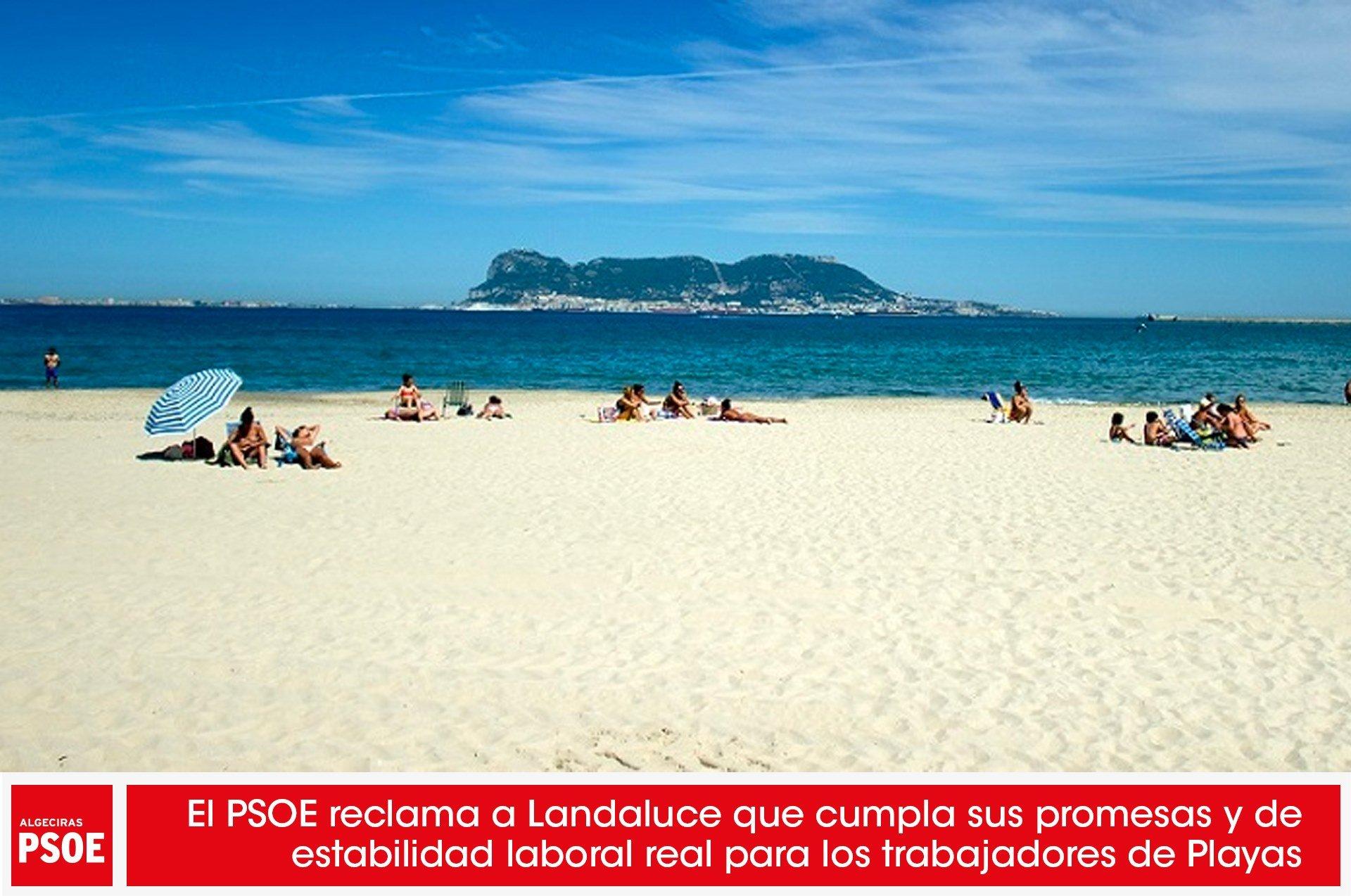 El PSOE reclama a Landaluce que cumpla sus promesas y dé estabilidad laboral real para los trabajadores de Playas
