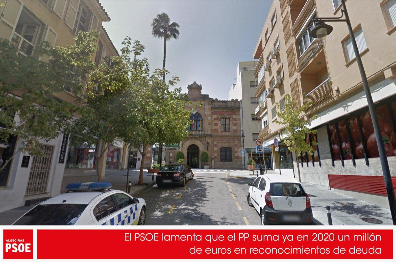 El PSOE lamenta que el PP suma ya en 2020 un millón de euros en reconocimientos de deuda