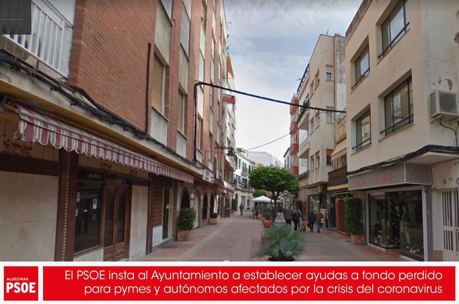 El PSOE insta al Ayuntamiento a establecer ayudas a fondo perdido para pymes y autónomos afectados por la crisis del coronavirus