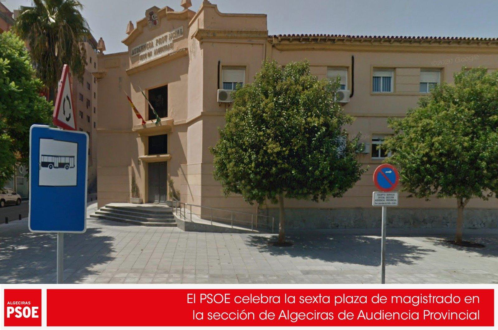 El PSOE celebra la sexta plaza de magistrado en la sección de Algeciras de Audiencia Provincial